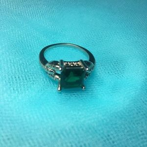 New Green Quad Crystal Engagement Ring